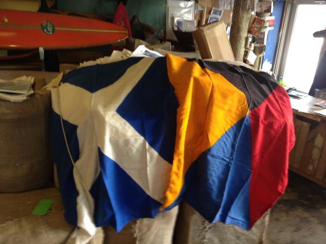 OLD VINTAGE NAUTICAL MARINE SHIP COUNTRY /& SIGNAL FLAG USED FL40