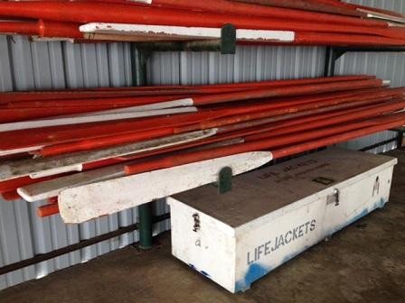 Lifeboat Oars And Lifejacket Storage Bin