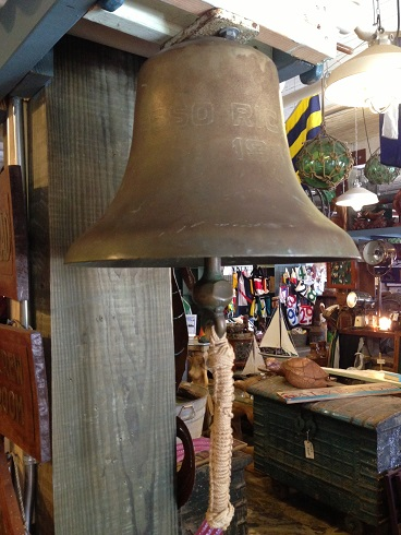 Esso Richmond salvaged brass ship bell 1940